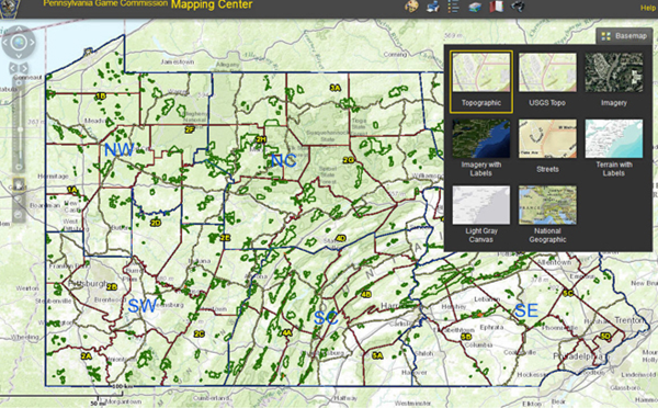 Pennsylvania State Game Lands Map Missouri Map - Penn map state maps